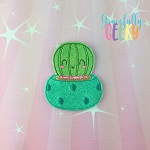Cactus Pot 2 Feltie ITH Embroidery Design 4x4 hoop (and larger)