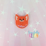 Donut Fox Feltie ITH Embroidery Design 4x4 hoop (and larger)