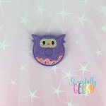 Donut Owl Feltie ITH Embroidery Design 4x4 hoop (and larger)