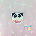 Donut Panda Feltie ITH Embroidery Design 4x4 hoop (and larger)
