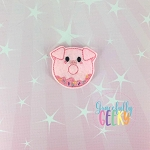 Donut Pig Feltie ITH Embroidery Design 4x4 hoop (and larger)