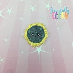 Eclipse totality Feltie ITH Embroidery Design 4x4 hoop (and larger)