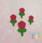 Flower Balloon Animal Feltie ITH Embroidery Design 4x4 hoop (and larger)