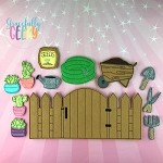 Gardening Play Set and accessories - Embroidery Design 5x7 hoop or larger