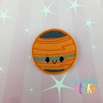 Kawaii Jupiter Feltie ITH Embroidery Design 4x4 hoop (and larger)
