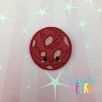 Kawaii Mars Feltie ITH Embroidery Design 4x4 hoop (and larger)