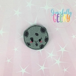 Kawaii Moon Feltie ITH Embroidery Design 4x4 hoop (and larger)