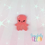 Kawaii Octopus Feltie ITH Embroidery Design 4x4 hoop (and larger)