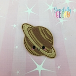 Kawaii Saturn Feltie ITH Embroidery Design 4x4 hoop (and larger)