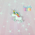 Kawaii Unicorn Feltie ITH Embroidery Design 4x4 hoop (and larger)