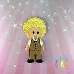 Lucas Dress up Doll  - Embroidery Design 5x7 hoop or larger