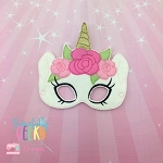 Girly Unicorn Mask Embroidery Design - 5x7 Hoop or Larger