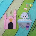 Poodle Set finger puppet and accessories - Embroidery Design