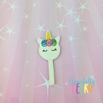 Unicorn Cake Pop Feltie ITH Embroidery Design 4x4 hoop (and larger)