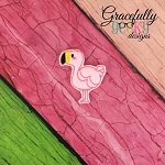 Flamingo Feltie ITH Embroidery Design 4x4 hoop (and larger)