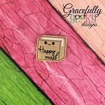 Happy Mail  Feltie ITH Embroidery Design 4x4 hoop (and larger)