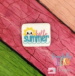 Hello Summer Feltie ITH Embroidery Design 4x4 hoop (and larger)