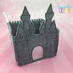 3D Castle  Felt Travel Board ITH Design 5x7 Hoop or Larger