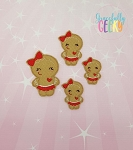 Gingerbread Girl 2  Feltie ITH Embroidery Design 4x4 hoop (and larger)