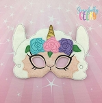 Girly Llamacorn Mask  Embroidery Design - 5x7 Hoop or Larger