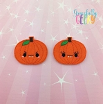 Evil Girl and Boy Pumpkin Felties ITH Embroidery Design 4x4 hoop (and larger)