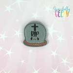 Kawaii Headstone Felties ITH Embroidery Design 4x4 hoop (and larger)