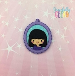 Little Girl 2 ornament Embroidery Design 4x4 hoop and up