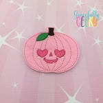 Love Pumpkin Feltie ITH Embroidery Design 4x4 hoop (and larger)