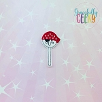 Pirate Cakepop Feltie ITH Embroidery Design 4x4 hoop (and larger)