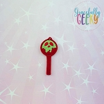 Poisoned Apple Cakepop Feltie ITH Embroidery Design 4x4 hoop (and larger)
