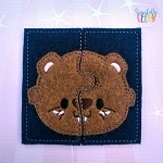Beaver Toddler 4x4 Hoop Puzzle Embroidery Design