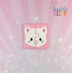 Cat Toddler 4x4 Hoop Puzzle Embroidery Design