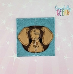 Dog Toddler 4x4 Hoop Puzzle Embroidery Design