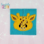 Giraffe Toddler 4x4 Hoop Puzzle Embroidery Design