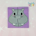Hippo Toddler 4x4 Hoop Puzzle Embroidery Design