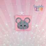 Mouse Toddler 4x4 Hoop Puzzle Embroidery Design