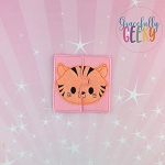 Tiger Toddler 4x4 Hoop Puzzle Embroidery Design