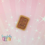 Chocolate Poptart Feltie ITH Embroidery Design 4x4 hoop (and larger)  Sept18 W4 10/26