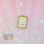 Confetti Poptart Feltie ITH Embroidery Design 4x4 hoop (and larger)  Sept18 W4 10/26