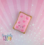 Strawberry Poptart Stuffie Embroidery Design - 4x4 Hoop or Larger Release: Sept18 W4 10/26