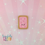Strawberry Poptart Feltie ITH Embroidery Design 4x4 hoop (and larger)  Sept18 W4 10/26