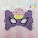 Cupcake Mask Embroidery Design - 5x7 Hoop or Larger