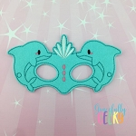 Dolphin Mask Embroidery Design - 5x7 Hoop or Larger