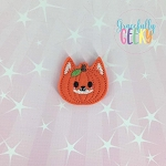 Fox pumpkin Feltie ITH Embroidery Design 4x4 hoop (and larger)