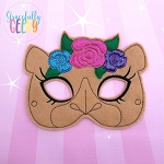 Girly Camel Mask  Embroidery Design - 5x7 Hoop or Larger