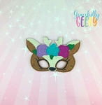 Girly Deer Mask  Embroidery Design - 5x7 Hoop or Larger