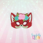 Girly Fox Mask  Embroidery Design - 5x7 Hoop or Larger