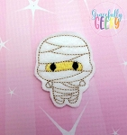 Mummy Feltie ITH Embroidery Design 4x4 hoop (and larger)