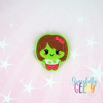 Girly Zombie Feltie ITH Embroidery Design 4x4 hoop (and larger)
