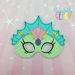 Mermaid 7 Mask  Embroidery Design - 5x7 Hoop or Larger